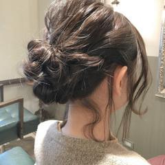 ヘアアレンジ ミディアム ガーリー バレンタイン ヘアスタイルや髪型の写真・画像