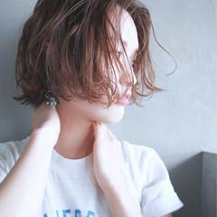 ウェーブ パーマ 簡単 ストリート ヘアスタイルや髪型の写真・画像