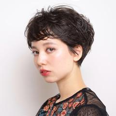 ショート モード ベリーショート ショートバング ヘアスタイルや髪型の写真・画像
