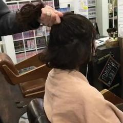 フェミニン 簡単ヘアアレンジ ヘアアレンジ ショート ヘアスタイルや髪型の写真・画像
