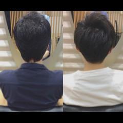 メンズスタイル メンズショート メンズヘア ナチュラル ヘアスタイルや髪型の写真・画像