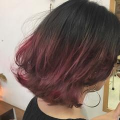 ミディアム 透明感 ウルフカット ストリート ヘアスタイルや髪型の写真・画像