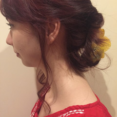 ゆるふわ ミディアム 大人かわいい 簡単ヘアアレンジ ヘアスタイルや髪型の写真・画像