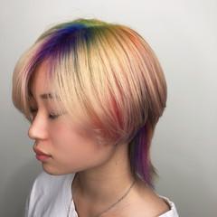 ウルフカット 派手髪 ストリート ハイトーン ヘアスタイルや髪型の写真・画像