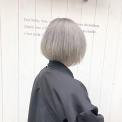 ベリーショート インナーカラー ミニボブ ボブ ヘアスタイルや髪型の写真・画像