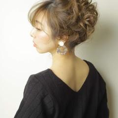 アップスタイル ヘアアレンジ ロング 簡単ヘアアレンジ ヘアスタイルや髪型の写真・画像