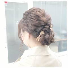 外国人風 大人かわいい セミロング ヘアアレンジ ヘアスタイルや髪型の写真・画像