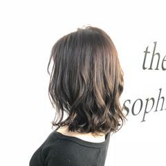 ナチュラル セミロング 透明感 ヘアスタイルや髪型の写真・画像