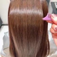 ナチュラル うる艶カラー 艶髪 艶カラー ヘアスタイルや髪型の写真・画像