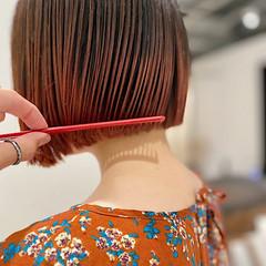 ストリート ミニボブ ボブ 切りっぱなしボブ ヘアスタイルや髪型の写真・画像