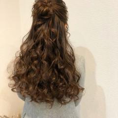 ヘアアレンジ お団子アレンジ ロング お団子 ヘアスタイルや髪型の写真・画像