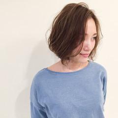 ハイライト ブラウン 外国人風 グラデーションカラー ヘアスタイルや髪型の写真・画像