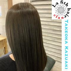 アディクシーカラー セミロング 透明感 アッシュ ヘアスタイルや髪型の写真・画像