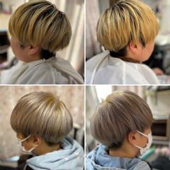 ベリーショート ブリーチオンカラー ブリーチ必須 ブリーチカラー ヘアスタイルや髪型の写真・画像