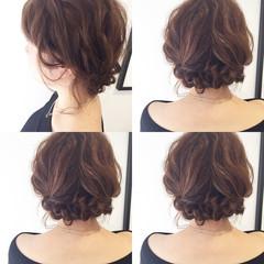 ヘアアレンジ フェミニン 簡単ヘアアレンジ ゆるふわ ヘアスタイルや髪型の写真・画像