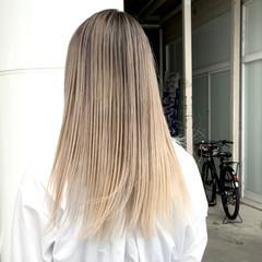 外国人風カラー ロング ナチュラル アンニュイ ヘアスタイルや髪型の写真・画像