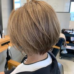 デザインカラー 極細ハイライト ベリーショート ショートボブ ヘアスタイルや髪型の写真・画像