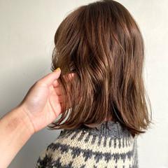 フェミニン 鎖骨ミディアム デート 外国人風カラー ヘアスタイルや髪型の写真・画像