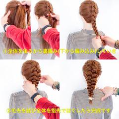 ヘアアレンジ ロング 編み込み フェミニン ヘアスタイルや髪型の写真・画像