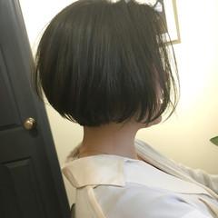 ニュアンス グレージュ 小顔 ミルクティー ヘアスタイルや髪型の写真・画像
