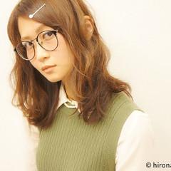 大人かわいい 前髪あり セミロング 外国人風 ヘアスタイルや髪型の写真・画像