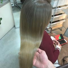 ハイトーン ナチュラル 外国人風 ロング ヘアスタイルや髪型の写真・画像