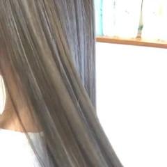 ロング ヘアアレンジ メッシュ エレガント ヘアスタイルや髪型の写真・画像