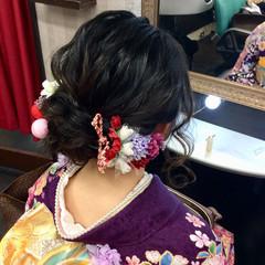 成人式 セミロング ナチュラル 成人式ヘア ヘアスタイルや髪型の写真・画像