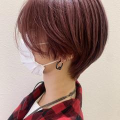 ショート ピンクラベンダー ショートヘア 大人ショート ヘアスタイルや髪型の写真・画像