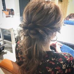 パーティ ショート フェミニン セミロング ヘアスタイルや髪型の写真・画像