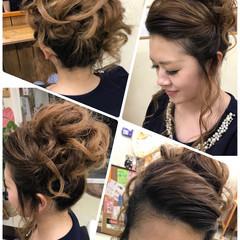 アウトドア ガーリー ヘアアレンジ セミロング ヘアスタイルや髪型の写真・画像