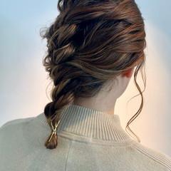 ナチュラル ヘアアレンジ ミディアム 簡単ヘアアレンジ ヘアスタイルや髪型の写真・画像