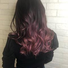エレガント ピンクアッシュ 透明感カラー ローズ ヘアスタイルや髪型の写真・画像