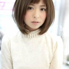 オン眉 コンサバ 秋 モテ髪 ヘアスタイルや髪型の写真・画像