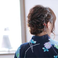 デート ミディアム 夏 ヘアアレンジ ヘアスタイルや髪型の写真・画像