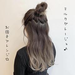 ガーリー ロング ブリーチ バレイヤージュ ヘアスタイルや髪型の写真・画像