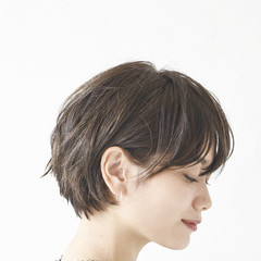 デート アンニュイほつれヘア ショート スポーツ ヘアスタイルや髪型の写真・画像
