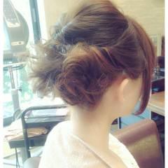 編み込み モテ髪 コンサバ ヘアアレンジ ヘアスタイルや髪型の写真・画像