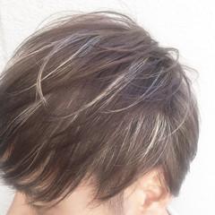 ハイライト 外国人風 ショート メンズ ヘアスタイルや髪型の写真・画像
