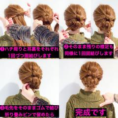 簡単ヘアアレンジ ヘアアレンジ アウトドア ロング ヘアスタイルや髪型の写真・画像
