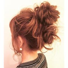 ロング オフィス 簡単ヘアアレンジ ナチュラル ヘアスタイルや髪型の写真・画像