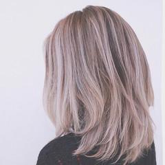 外国人風 ブラウン ボブ グラデーションカラー ヘアスタイルや髪型の写真・画像