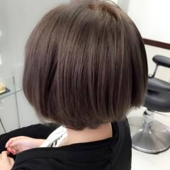 アッシュ ボブ グレージュ 外国人風カラー ヘアスタイルや髪型の写真・画像