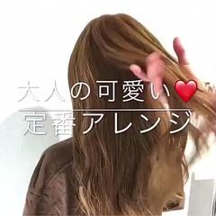 オフィス フェミニン ヘアアレンジ 結婚式 ヘアスタイルや髪型の写真・画像