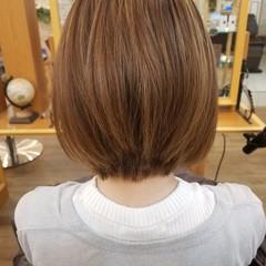 ダブルカラー ハイライト ボブ 上品 ヘアスタイルや髪型の写真・画像