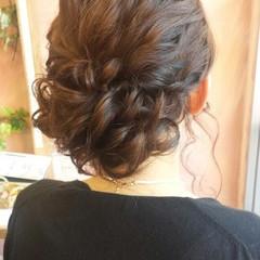 ロング 波ウェーブ 結婚式 パーティ ヘアスタイルや髪型の写真・画像