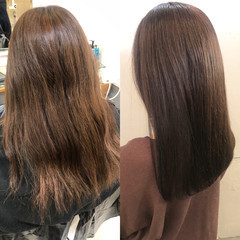 髪質改善カラー 最新トリートメント ロング 艶髪 ヘアスタイルや髪型の写真・画像