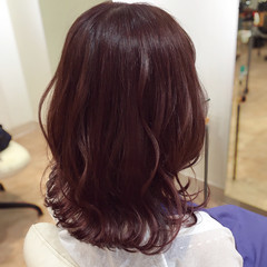 ラベンダーピンク ピンク セミロング ピンクアッシュ ヘアスタイルや髪型の写真・画像