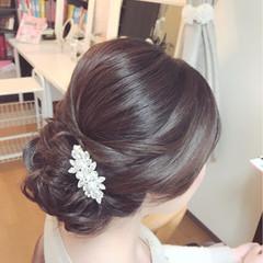 上品 結婚式 大人女子 謝恩会 ヘアスタイルや髪型の写真・画像