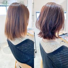 ミディアム 大人かわいい ショートヘア ナチュラル ヘアスタイルや髪型の写真・画像
